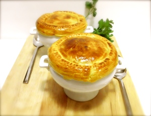 Puff pastry Chicken Hot Pots