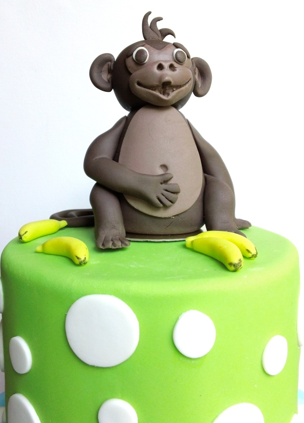 Cheeky Monkey Theme Birthday Cake