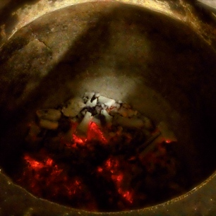 Hot Charcoal's of the Tandoor oven