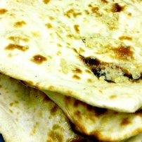Freshly baked to order Naan Bread