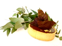 Chocolate Tart with a hint of gold leaf