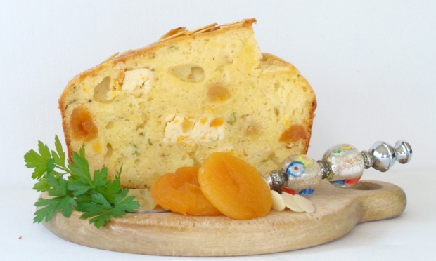 Savoury Stilton, Apricot & Almond Cake