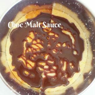 Step: 2 Spread Choc-Malt Sauce