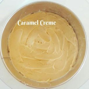 Step: 3 Spread half the Caramel Creme