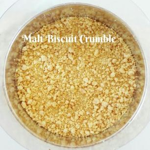 Step: 4 Sprinkle a layer of Malt Biscuit Crumble (use the small crumble only)