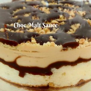 Step: 5 Add another layer of Choc-Malt Sauce